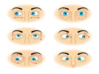 Базовый комплекс упражнений для тренировки глаз